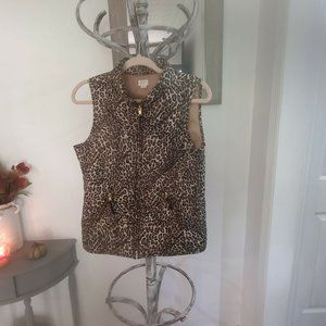 Crown And Ive Cheetah Puffer Vest